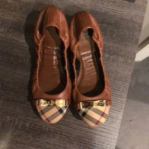 Burberry Flats with shoe box and dust bag